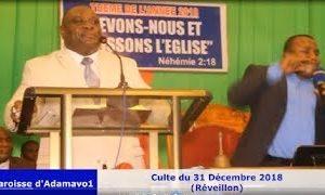 Culte du réveillon présidé par l'Apôtre ADEDJE K. Antoine