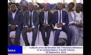 Culte de prise de fonction des Trésoriers Généraux et de la commission d'Audit Interne