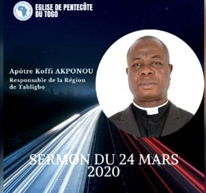Sermon du 24 Mars 2020